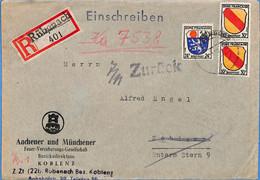 Allemagne Zone Française  1946  Lettre De KRubenach  (G0246) - Franse Zone