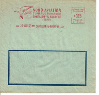 1962 - Empreinte SATAS Type SC - Chatillon Sur Bagneux - NORD AVIATION - EMA ( Maquina De Huellas A Franquear)
