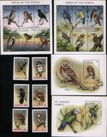 St Vincent And Grenadines 1993 Birds Fauna Set+2klb+2s/s MNH - Búhos, Lechuza