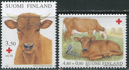 Finland 2000. Michel #1529/30 MNH/Luxe. Red Cross. Animals. Pets - Cattle. Bull (Ts17) - Sin Clasificación