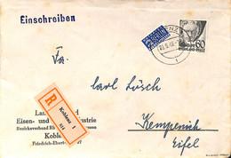Allemagne Zone Française  1949  Lettre De Koblenz  (G0269) - Franse Zone