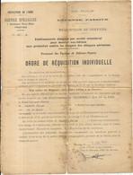 1941 . DEFENSE PASSIVE . ORDRE DE REQUISITION . ROMILLY SUR SEINE - Documentos Históricos