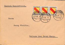 Allemagne Zone Française  1946  Lettre De  Bad Ems    (G0274) - Franse Zone