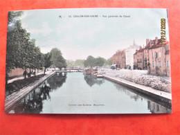 Carte Colorisée -  CHALON Sur SAONE - Vue Générale Du Canal - Tbe - Chalon Sur Saone
