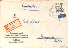 Allemagne Zone Française  194..  Lettre De  Koblenz   (G0277) - Franse Zone