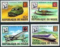 Niger 1979  Rowland Hill Décès 100 Ans Death  Douglas DC-3 (DC 3 ), Train ICE (YT 476, Mi 661, Gibbons 766 ) - Airplanes