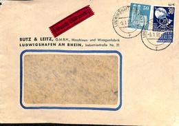 Allemagne Zone Française  1950   Lettre De  Ludwigshafen Am Rhein  (G0294) - Franse Zone