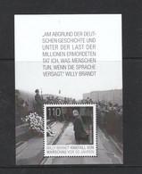 Deutschland BRD **  Block 87  Willy Brandt Kniefall  In Warschau Neuausgabe  3.12.2020 - Blocks & Sheetlets