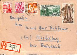 Allemagne Zone Française  1948   Lettre De Freiburg  (G0323) - Franse Zone