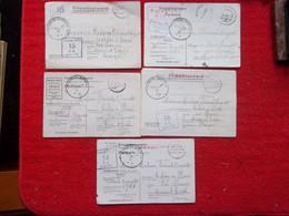 Correspondances Prisonniers 2°guerre Lot De 5 - 1939-45