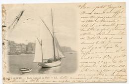 Cpa, 38. LE HAVRE. Yacht Rentrant Au Port. - LL /888 - Sailing Vessels
