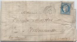 LT5125  Variété/n°60/Lettre, Oblit étoile Chiffrée 11 De PARIS (Pl. Du Thèatre-Français), Taches Blanches Après FRANC - 1871-1875 Ceres