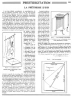 """ PRESTIDIGITATION-MAGIE - ILLUSION  ""  ( LA PRETRESSE D'ISIS  ) Par Le PREDTIDIGITATEUR  "" ALBER ""    1936 - Unclassified"