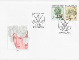 3572 FDC Slovensko Bratislava 1993, Hojas - Cartas