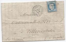 LT5127  N°60/Lettre, Oblit étoile Chiffrée 11 De PARIS (Pl. Du Théatre-Français) - 1871-1875 Ceres
