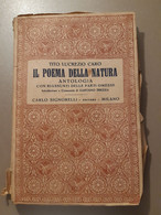 Tito Lucrezio Caro - Il Poema Della Natura. Carlo Signorelli Editore 1946 - 1900-1949