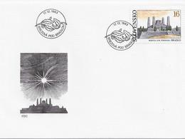 3572 FDC Brezova Pod Bradlom  Bratislava 1993  ,mohyla M.R.stefanika Bradlo - Cartas