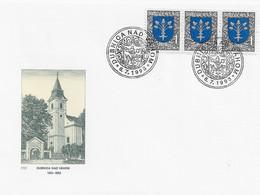 3572 FDC Dubnica Nad Vahom  1993 - Cartas