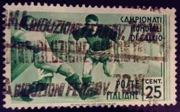 Italie Italy Italia 1934 Sport Football Soccer Calcio Yvert 340 O Used Usato - Gebraucht