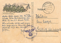2.4.1943  Feldpost   De Oschatz 3   (G0348) - Brieven En Documenten