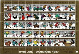 Denmark; Christmas Seals.  Full Sheet 1987;  MNH (**) - Fogli Completi