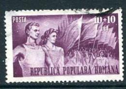 ROMANIA 1948  People's Sport Organisation 10 L. Purple Used. Michel 1174 - Usado