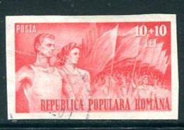 ROMANIA 1948  People's Sport Organisation 10 L. Red Used. Michel 1173 - Usado
