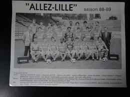 Lille équipe Du LOSC 1988 - 1989 - Voetbal