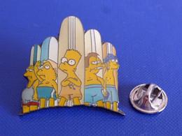 Pin's Simpsons - Bart Simpson Barney - Planche De Surf Mer Sport Nautique - Dessin Animé (SD19) - Comics