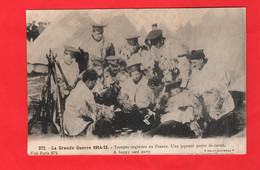 WORLD WAR ONE ENGLISH SOLDIERS PLAYING CARDS 1914-15 IN FRANCE - Guerra 1914-18