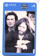 Télécarte China Unicom - The Beatles - Music