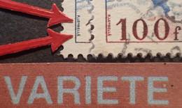 R1118/452 -  1954 - POSTE AERIENNE - MYSTERE IV - N°30 ☉ - VARIETE ➤➤➤ Signature Bleue à Gauche Et Brune à Droite - Varieteiten: 1950-59 Afgestempeld