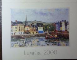 Petit Calendrier Poche 2000 Lumière Peinture J. Bouyssou Honfleur Le Port - Station ELF Allonnes - Klein Formaat: 1991-00