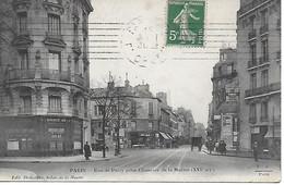 75 - PARIS - RUE DE PASSY PRISE DE LA CHAUSSEE DE LA MUETTE ( XVI° Arrt ) CPA POSTEE EN 1911 - Arrondissement: 16