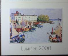 Petit Calendrier Poche 2000 Lumière Peinture J. Bouyssou Honfleur Le Port - Le Plessis Bouchard - Klein Formaat: 1991-00