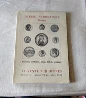 Catalogue : Galerie Numismatique Drouot / 13e Vente Sur Offres  - 1980 - French