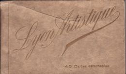 69 LYON ARTISTIQUE **Carnet De 40 Cartes Détachables Complet** N.MOUSSY Editeur 4 Rue De Crimée (2 Scans) Mars 1929 - Zonder Classificatie