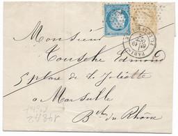 TIMBRES N° 60/1;  LETTRE  ; GRANDE CASSURE ;148 A2   / 6 ème état TB - 1871-1875 Ceres