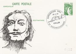 2058 CP1 1.10F. SABINE - Entier Repiqué DALI - ROCHECOUART 3/80 - Postales  Transplantadas (antes 1995)