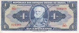 BILLETE DE BRASIL DE 1 CRUZEIRO DEL AÑO 1944 CON FIRMA EN CALIDAD EBC (XF) (BANK NOTE) - Brasile