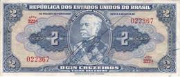 BILLETE DE BRASIL DE 2 CRUZEIROS DEL AÑO 1944 CON FIRMA SERIE 322 (BANK NOTE) - Brasile