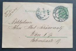 Kaiserreich 1907, Postkarte 5H, WAIDHOFEN A.d. YBBS Gelaufen WIEN - Lettres & Documents