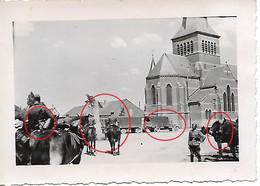 Photo Foto 2WK WW2 WWII Boulers Chimay Dernier Pause En Belgique Wehrmacht Chevaux - Guerre, Militaire