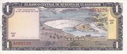 BILLETE DE EL SALVADOR DE 1 COLON DEL AÑO 1974/1977 DE CRISTOBAL COLON EN CALIDAD EBC (XF) (BANKNOTE) - El Salvador