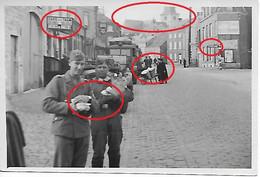 Photo Foto 2WK WW2 WWII Marche En Famenne Rue Porte Basse Achat Wehrmacht Hotton Aye - Guerre, Militaire