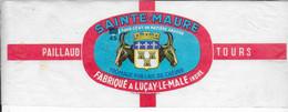 ETIQUETTE  DE  FROMAGE CHEVRE SAINTE MAURE PAILLAUD LUCAY LE MALE INDRE - Cheese