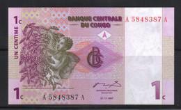 Congo 1 Centime 1997 Neuf UNC - Sin Clasificación