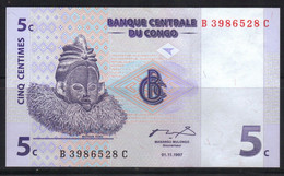 Congo 5 Centimes 1997 Neuf UNC - Sin Clasificación