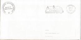 ANDORRA  CORREO FRANCES CC FRANQUICIA INTERIOR 1991 - Cartas