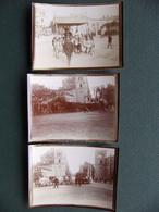 Lot 3 Photographies Anciennes Lieu à Déterminer Défilé Carnaval  Pays Europe Du Sud ?????? - Antiche (ante 1900)
